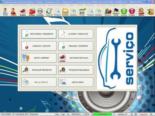 Programa para AutoSom e Tunning + Vendas e Financeiro v2.0 - Fpqsystem 152343