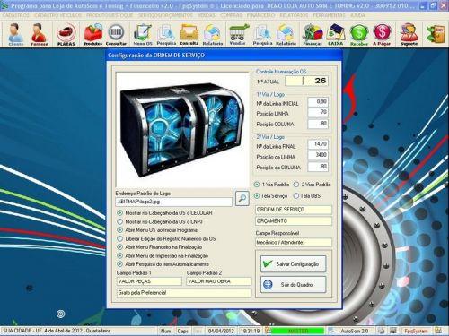 Programa para AutoSom e Tunning + Vendas e Financeiro v2.0 - Fpqsystem 152347