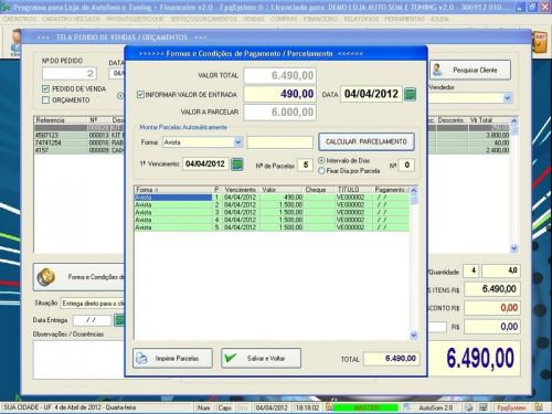 Programa para AutoSom e Tunning + Vendas e Financeiro v2.0 - Fpqsystem 152348