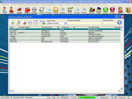 Programa para AutoSom e Tunning + Vendas e Financeiro v2.0 - Fpqsystem 152350