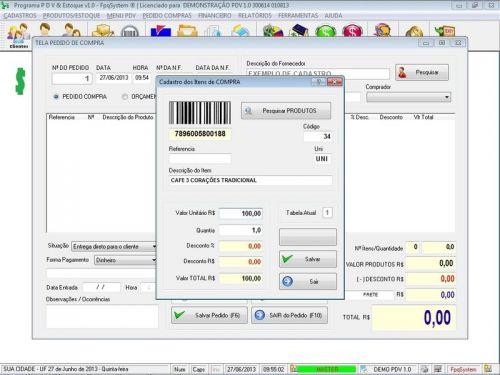 Programa PDV Frente de Caixa, Estoque e Financeiro v1.0 - FpqSystem 152526