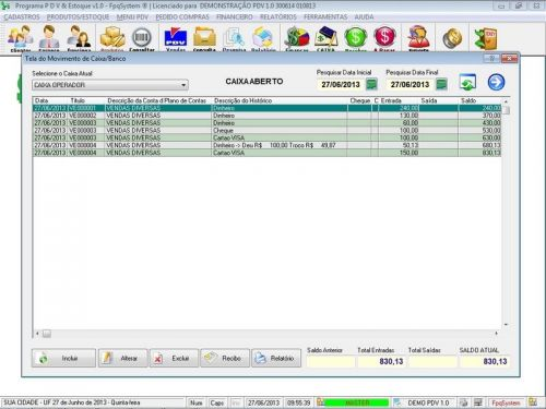 Programa PDV Frente de Caixa, Estoque e Financeiro v1.0 - FpqSystem 152527