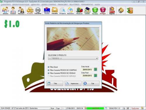 Programa PDV Frente de Caixa, Estoque e Financeiro v1.0 - FpqSystem 152533