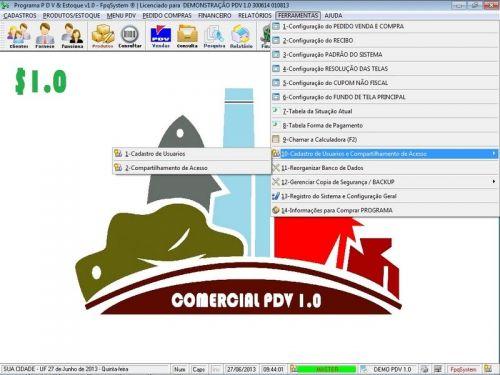 Programa PDV Frente de Caixa, Estoque e Financeiro v1.0 - FpqSystem 152534