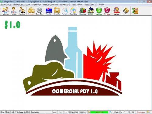 Programa PDV Frente de Caixa, Estoque e Financeiro v1.0 - FpqSystem 152539