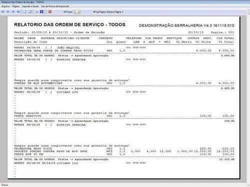 Programa Ordem de Serviço Serralheria com Vendas e Financeiro v4.3 187866