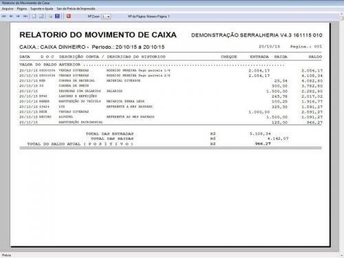 Programa Ordem de Serviço Serralheria com Vendas e Financeiro v4.3 187867