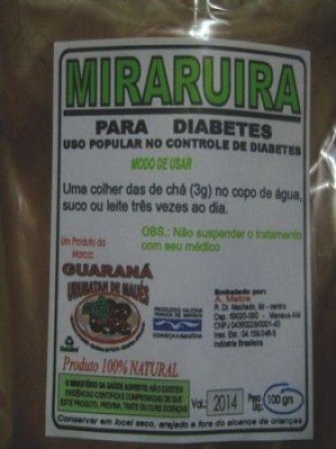 Miraruíra em Pó 100gr. Auxilia no Contrôle da Diabete 4456