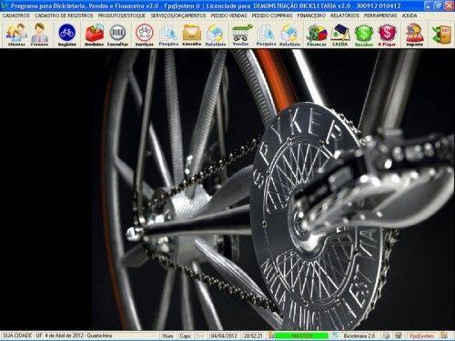 Programa para Bicicletaria com Ordem de Serviço Vendas e Financeiro v2.0  FpqSystem 6677