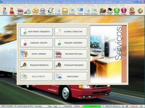Programa OS Oficina Mecânica Caminhão com Serviços Orçamentos Vendas e Financeiro v4.2 6724