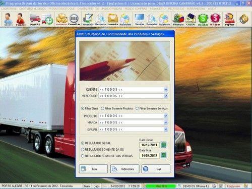 Programa OS Oficina Mecânica Caminhão com Serviços Orçamentos Vendas e Financeiro v4.2 6728