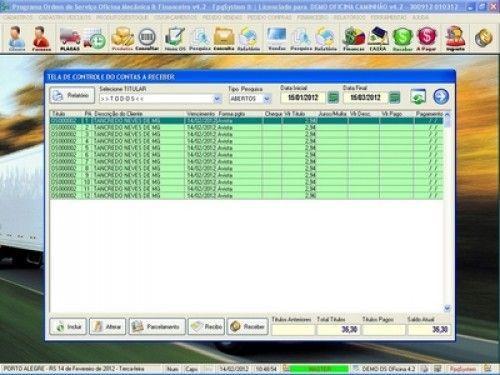 Programa OS Oficina Mecânica Caminhão com Serviços Orçamentos Vendas e Financeiro v4.2 6730