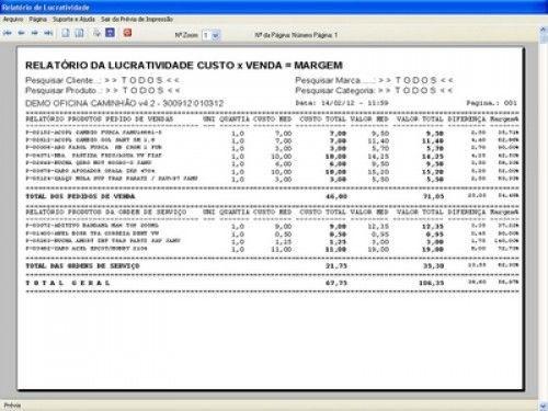 Programa OS Oficina Mecânica Caminhão com Serviços Orçamentos Vendas e Financeiro v4.2 6732