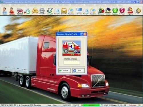Programa OS Oficina Mecânica Caminhão com Serviços Orçamentos Vendas e Financeiro v4.2 6736