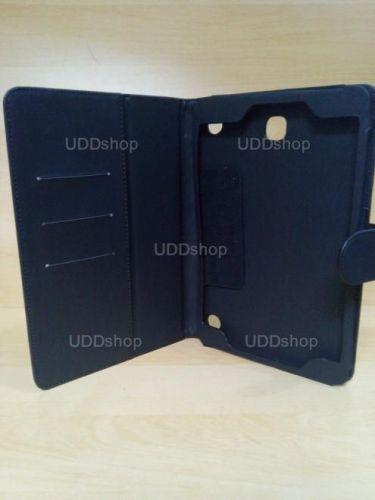 Capa Case Carteira Couro PRETA Tablet Samsung Galaxy Tab A 8.0 Modelos SM-P350n, SM-P355m, SM-T350n ou SM-T355n V3 + Frete Grátis 243955