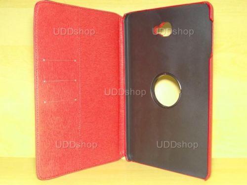 Capa Case Capinha Carteira Giratória 360° VERMELHA Tablet Samsung Galaxy Tab A 10.1 (2016) Modelos SM-P580, SM-P585m, SM-T580 ou SM-T585m + Frete Grátis 277504