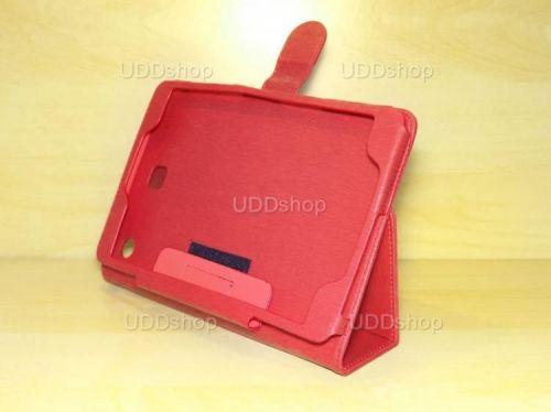 Capa Case Carteira Couro VERMELHA Tablet Samsung Galaxy Tab A 8.0 Modelos SM-P350n, SM-P355m, SM-T350n ou SM-T355n V3 + Frete Grátis 339580