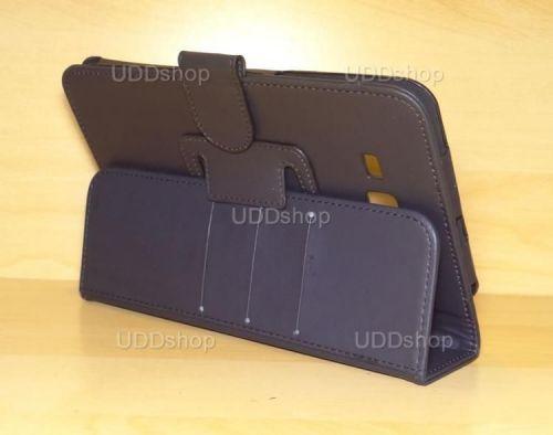 Capa Case Carteira PRETA Tablet Samsung Galaxy Tab3 Lite 7 SM-T110, SM-T111, SM-T113 ou SM-T116 + Frete Grátis 339571