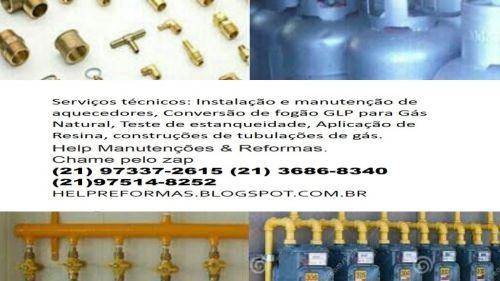 Instalação e manutenção de aquecedores conversão de fogão Aplicação de resina nova Tubulação de gás teste de estanquiedade 281194