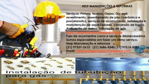 Instalação e manutenção de aquecedores conversão de fogão Aplicação de resina nova Tubulação de gás teste de estanquiedade 281195