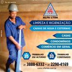 Alfa serviços de limpeza de caixas e reservatórios de água