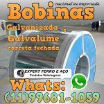 Bobinas de Chapa Galvanizada Galvalume Zincada Aço Carbono Expert Ferro e Aço Distribuidor  fabricar telhas metalicas dry wall slitter steel frame