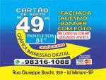 Cartão de visita R$ 49    11  98316-1088-whatsapp  11 98453-7650-whatsapp