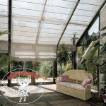 Cortina para teto e cobertura de vidro