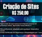 Criação de Site R$ 250.00