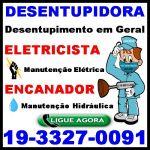 Desentupidora em Campinas 193327-0091 Eletricista em Campinas Encanador em Campinas