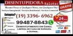 Desentupidora No Jardim Aurélia em Campinas 19 3396-6962 Orçamento sem Compromisso Aceitamos Cartão
