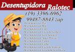 Desentupidora No Jardim Conceição em Campinas 3396-6962 Visita Grátis Aceitamos Cartão