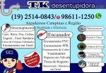 Desentupidora no Nóbrega em Campinas 2514-0843 Orçamento Grátis Aceitamos Cartão