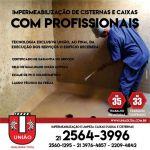 Impermeabilização e limpeza caixas dágua na região Duque de Caxias