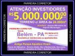 Investidores de Campinas Vendo Terreno comercial e industrial em Belém do Para. Vendo Clube aquático Área de 24.000m² em Icoaraci.
