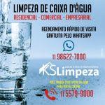 Limpeza de caixa de água para condomínios comércios e industrias