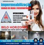 Limpeza Impermeabilização de caixa dágua e reservatório em Minas Gerais