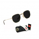 Óculos De Sol Hexagonal Top Masculino Feminino Promoção