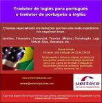 Tradução de Português a Inglês
