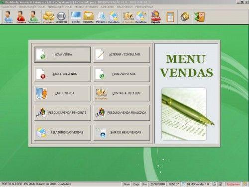 Programa para controlar vendas e estoque v1.0   FpqSystem 1904