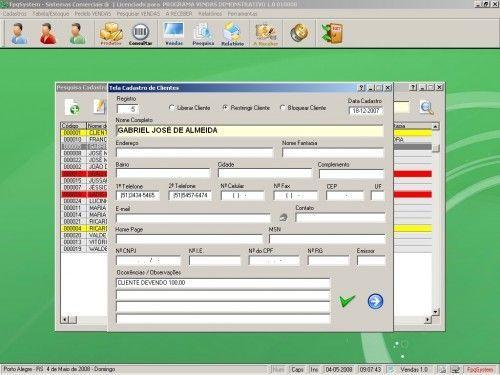 Programa para controlar vendas e estoque v1.0   FpqSystem 1907