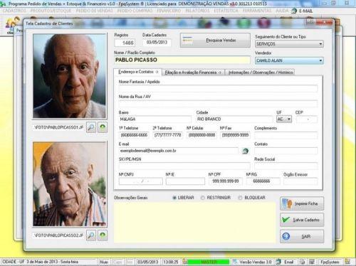 Programa Controle de Estoque, Pedido de Vendas e Financeiro v3.0 PLUS 15913
