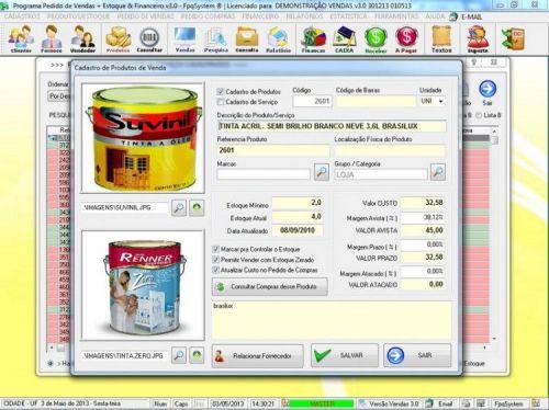 Programa Controle de Estoque, Pedido de Vendas e Financeiro v3.0 PLUS 15916