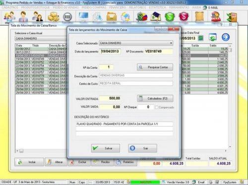 Programa Controle de Estoque, Pedido de Vendas e Financeiro v3.0 PLUS 15927
