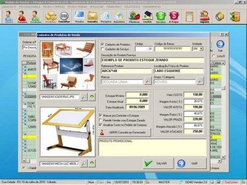 Programa para Controlar Vendas, Controlar Estoque e Financeiro v2.0 2521