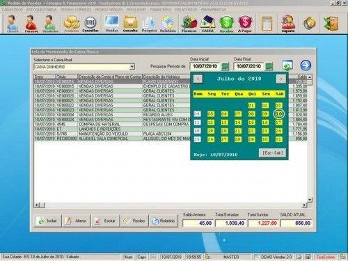 Programa para Controlar Vendas, Controlar Estoque e Financeiro v2.0 2531