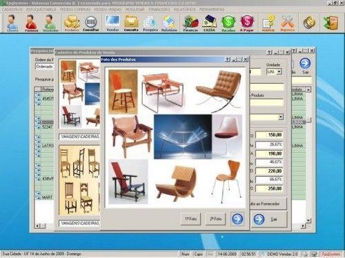 Programa para Controlar Vendas, Controlar Estoque e Financeiro v2.0 2536