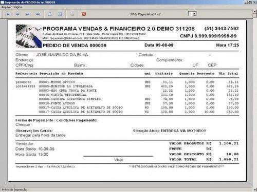 Programa para Controlar Vendas, Controlar Estoque e Financeiro v2.0 2537