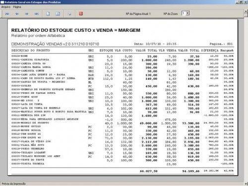 Programa para Controlar Vendas, Controlar Estoque e Financeiro v2.0 2538