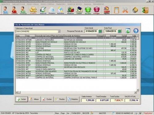 Programa Ordem de Serviço para Marmoraria + Vendas + Financeiro v4.8 2568
